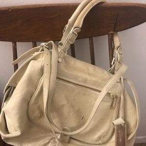 Gryson Olivia ivory leather handbag duffle